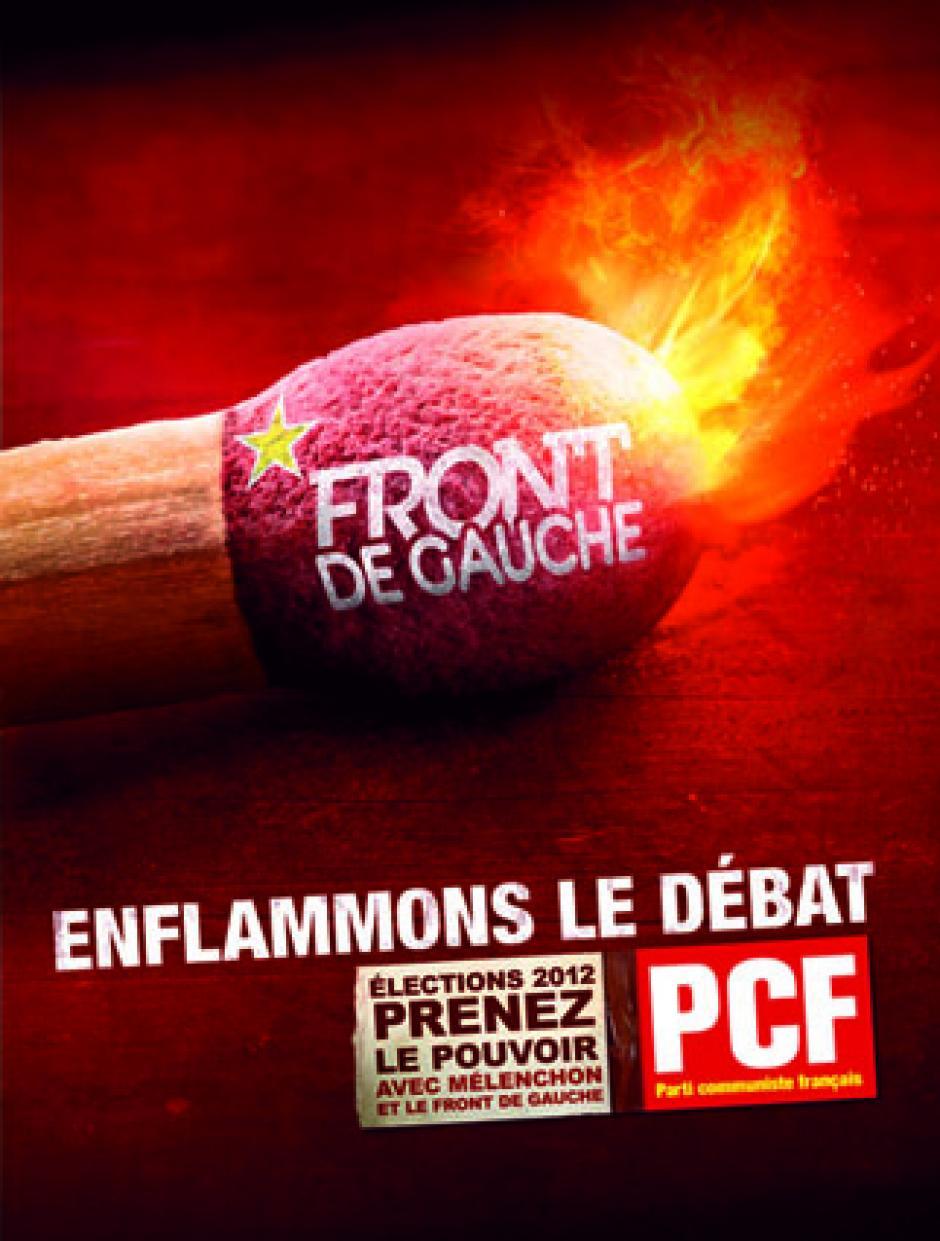 L'affiche enflammée du PCF